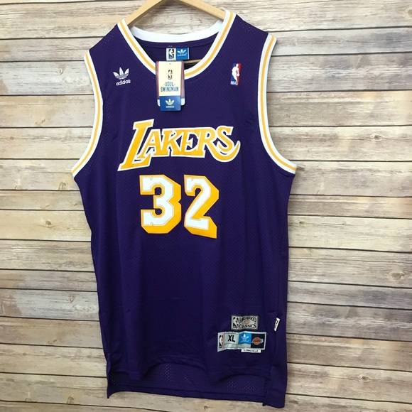 reputable site 312cb 6f37a Magic Johnson Throwback LA Lakers Jersey Lebron NWT